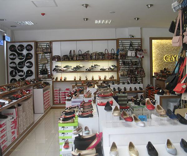 ayakkabı mağaza raf tasarımı mağaza dekorasyonu