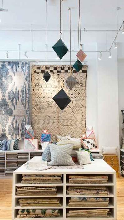 ev tekstili mağaza dekorasyonu
