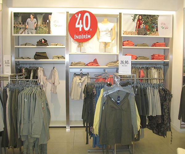 mağaza raf tasarımı tekstil izmir
