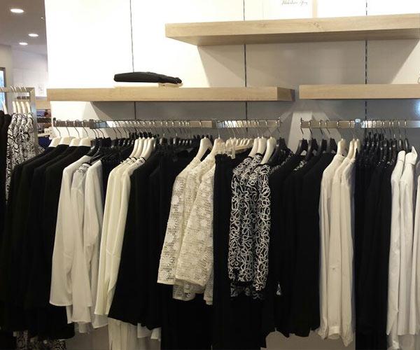 giyim mağaza rafı tekstil mağazası raf tasarımı