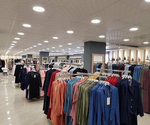 giyim mağaza dekorasyonu tekstil mağazaları