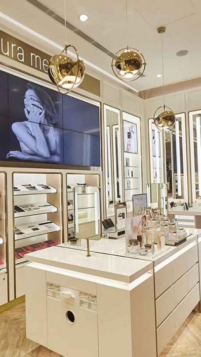 kozmetik mağazaları kozmetik mağaza rafları