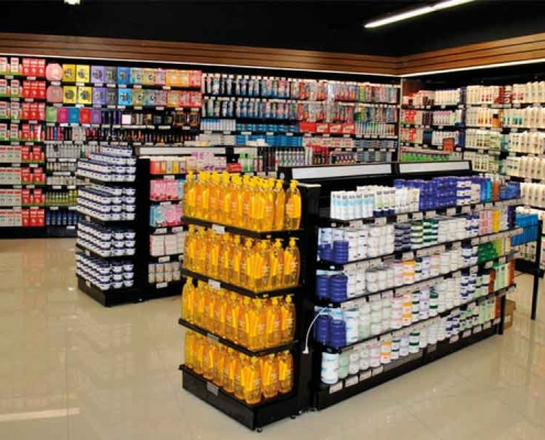 market raf dekorasyonu market dizaynı