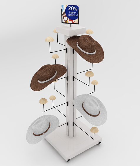 Şapka Standı mağaza ekipmanı